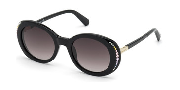 Shiny Black/Gradient Smoke Swarovski SK0281 Sunglasses