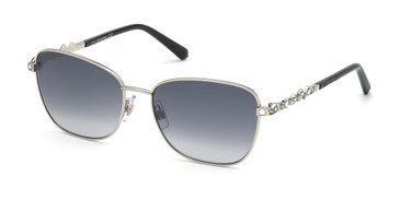 Shiny Palladium/Smoke Mirror Swarovski SK0284 Sunglasses