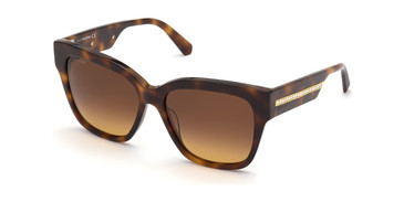 Dark Havana/Gradient Brown Swarovski SK0305 Sunglasses