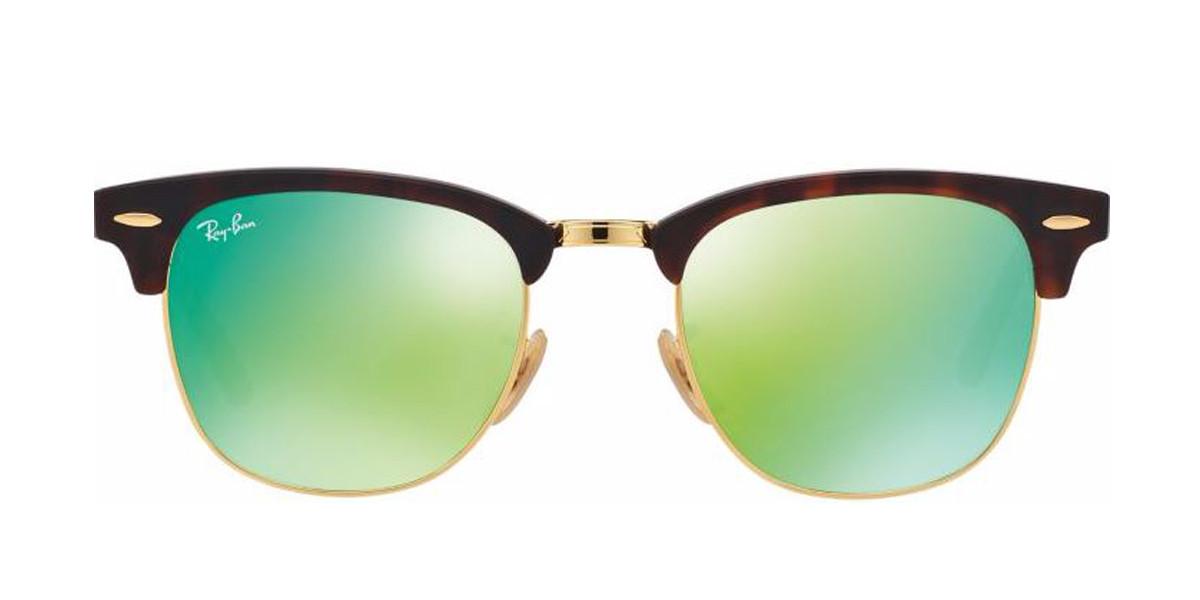 Tortoise 114519 RayBan RB3016 Clubmaster Flash Lenses Sunglasses - Teenager