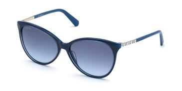 Shiny Blue/Gradient Blue Swarovski SK0309 Sunglasses