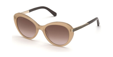 Shiny Light Brown/Gradient Brown Swarovski SK0327 Sunglasses