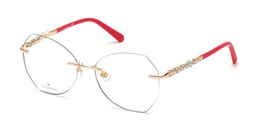 Shiny Rose Gold Swarovski SK5345 Eyeglasses