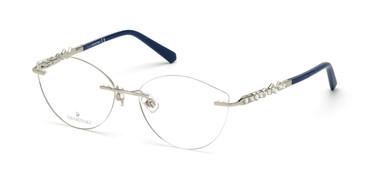Shiny Palladium Swarovski SK5346 Eyeglasses