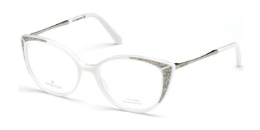 White Swarovski SK5362 Eyeglasses
