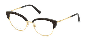 Shiny Dark Brown Swarovski SK5363 Eyeglasses
