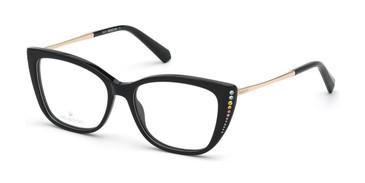 Shiny Black Swarovski SK5366 Eyeglasses