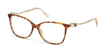 Havana/other Swarovski SK5367-F Eyeglasses