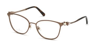 Matte Dark Brown Swarovski SK5368 Eyeglasses