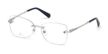 Shiny Palladium Swarovski SK5374 Eyeglasses