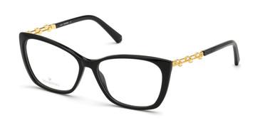 Shiny Black Swarovski SK5383 Eyeglasses