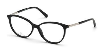 Shiny Black Swarovski SK5385 Eyeglasses