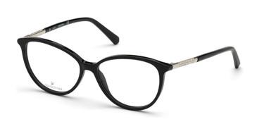 Shiny Black Swarovski SK5385-F Eyeglasses