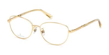 Shiny Deep Gold Swarovski SK5386-H Eyeglasses