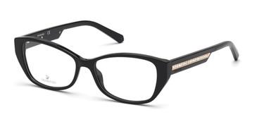 Shiny Black Swarovski SK5391 Eyeglasses