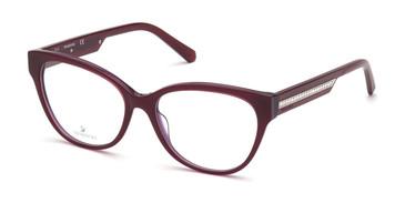 Shiny Violet Swarovski SK5392 Eyeglasses