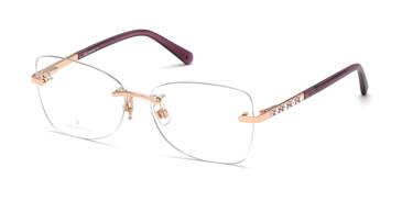 Shiny Rose Gold Swarovski SK5394 Eyeglasses