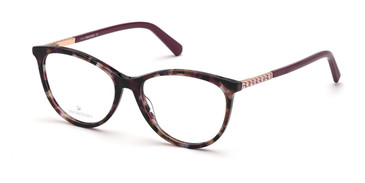 Coloured Havana Swarovski SK5396 Eyeglasses
