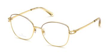 Shiny Deep Gold Swarovski SK5398 Eyeglasses