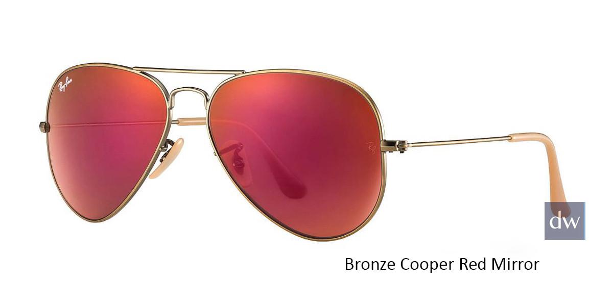 Bronze Cooper Red Mirror RayBan RB3025 Aviator Flash Lenses Sunglasses