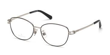 Shiny Palladium Swarovski SK5403-D Eyeglasses