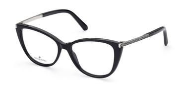 Shiny Black Swarovski SK5414 Eyeglasses