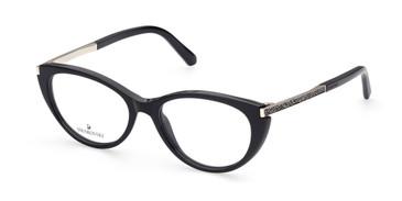 Shiny Black Swarovski SK5413 Eyeglasses