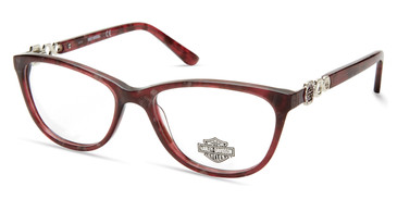 Shiny Bordeaux HARLEY DAVIDSON HD0554 Eyeglasses.