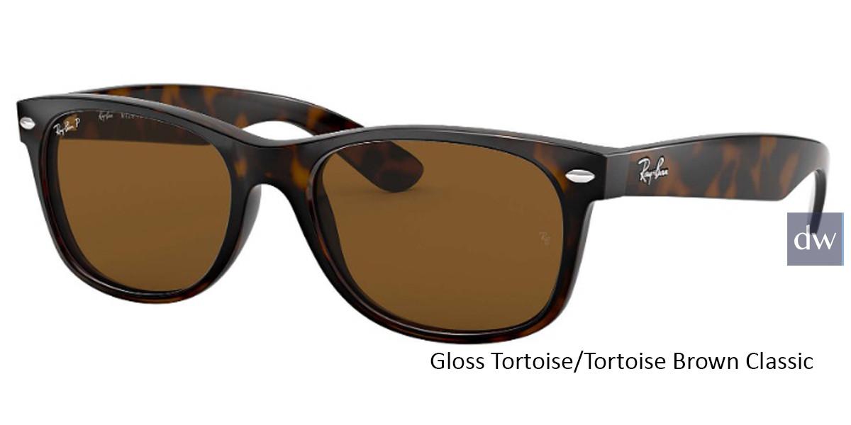 Gloss Tortoise/Tortoise Brown Classic lenses RayBan RB2132 Polarized New Wayfarer Classic Sunglasses