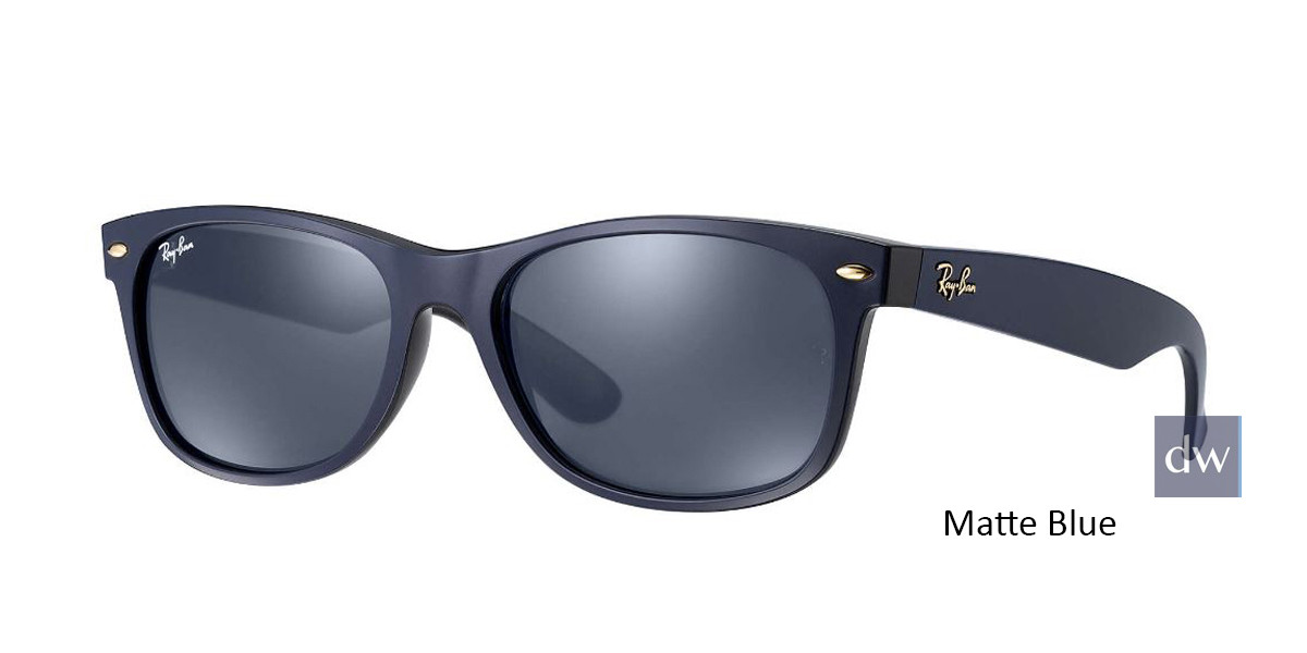 Matte Blue RayBan RB2132 New Wayfarer At Collection - Blue Sunglasses