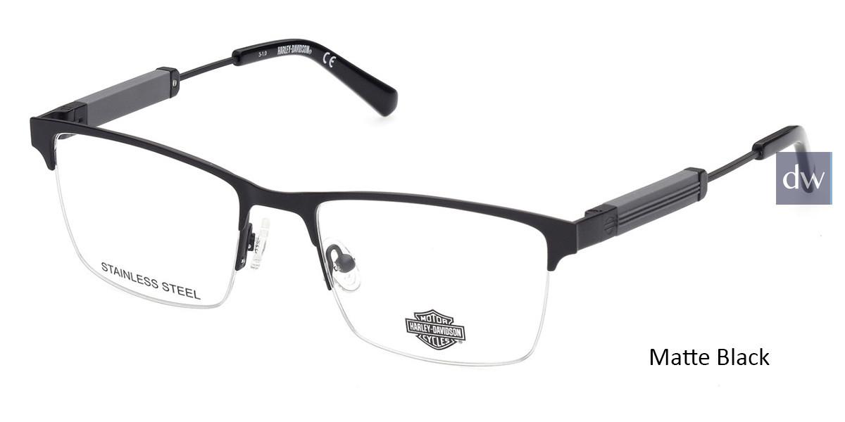 Matte Black HARLEY-DAVIDSON HD9013 Eyeglasses.