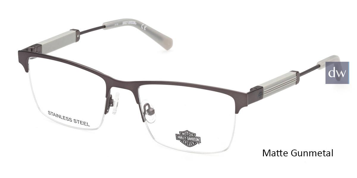Matte Gunmetal HARLEY-DAVIDSON HD9013 Eyeglasses.
