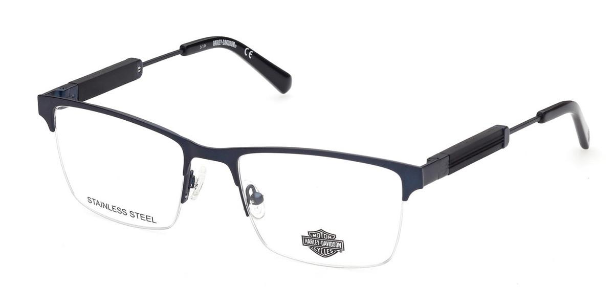 Matte Blue HARLEY-DAVIDSON HD9013 Eyeglasses.