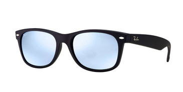 Black Silver Flash RayBan RB2132 New Wayfarer Flash Sunglasses
