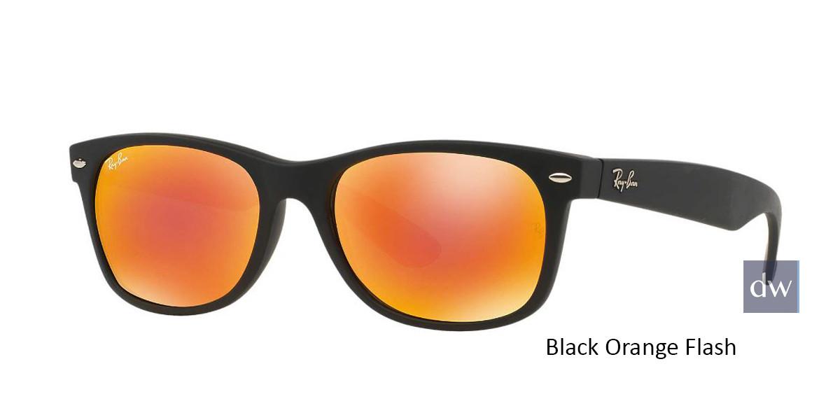 Black Orange Flash RayBan RB2132 New Wayfarer Flash Sunglasses