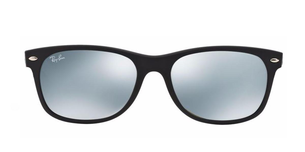Black Silver Flash RayBan RB2132 New Wayfarer Flash Sunglasses