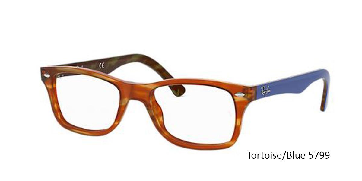 Tortoise/Blue 5799 RayBan RB5228 Eyeglasses