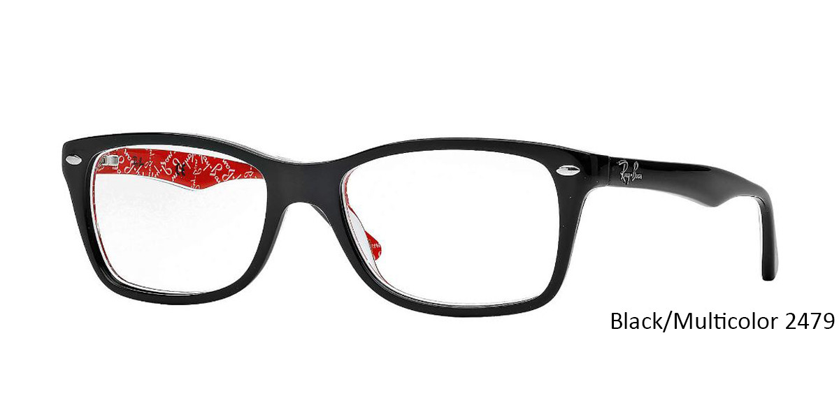 Black/Multicolor RayBan RB5228 Eyeglasses