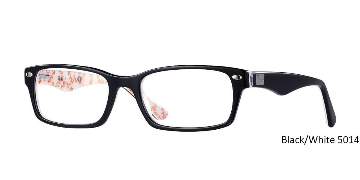 Black/White 5014 RayBan RB5206 - All Colors Eyeglasses