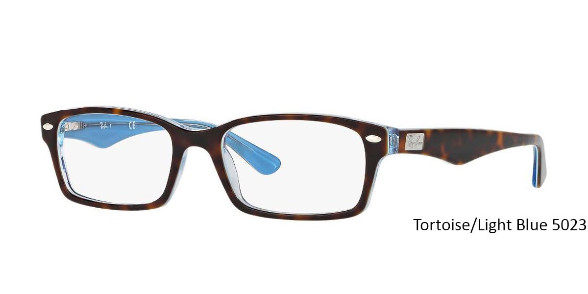 ce2576381ef2 ... Tortoise/Light Blue 5023 RayBan RB5206 - All Colors Eyeglasses ...