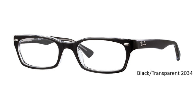 Black/Transparent 2034 RayBan RB5150 Eyeglasses - Teenager