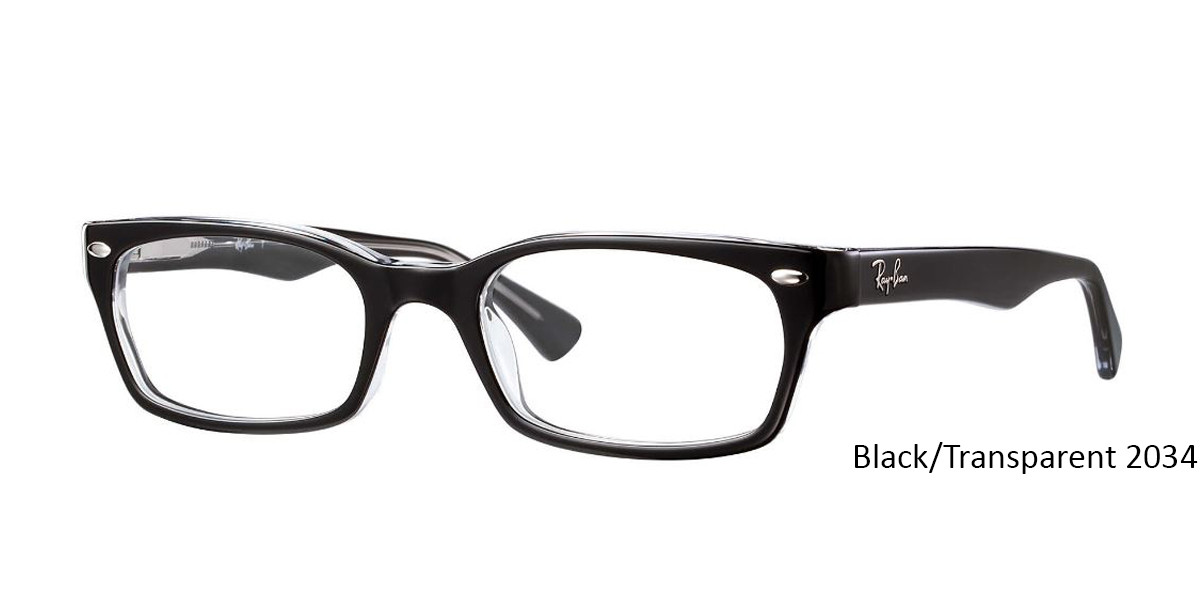 Black/Transparent 2034 RayBan RB5150 Eyeglasses - Teenager