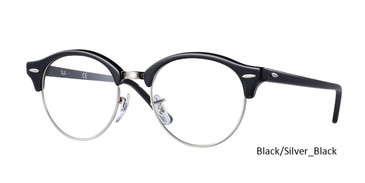 Black/Silver-Black (2000) RayBan Clubround Optics RB4246V Eyeglasses - Teenager