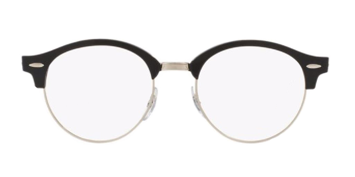 Black/Silver-Black (2000) RayBan Clubround Optics RB4246V Eyeglasses - Teenager