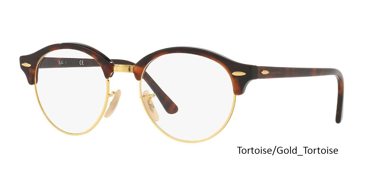 Tortoise/Gold-Tortoise (2372) RayBan Clubround Optics RB4246V Eyeglasses - Teenager