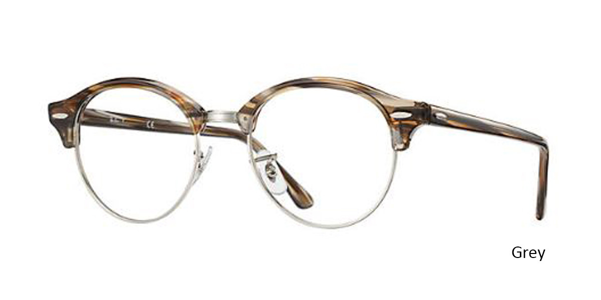 Grey (5749) RayBan Clubround Optics RB4246V Eyeglasses - Teenager