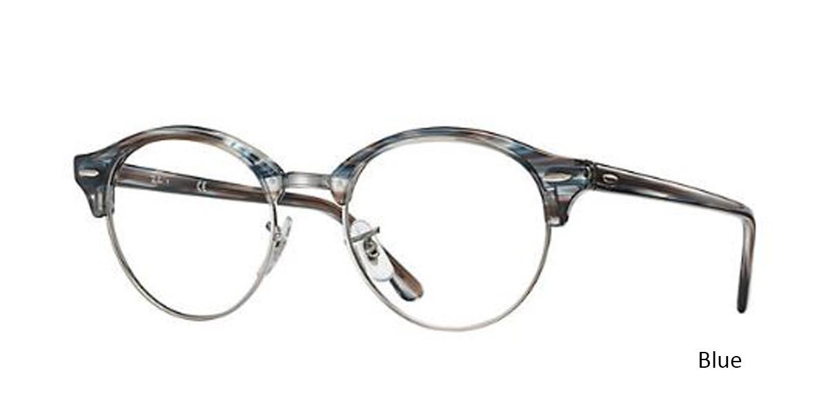 Blue (5750) RayBan Clubround Optics RB4246V Eyeglasses - Teenager