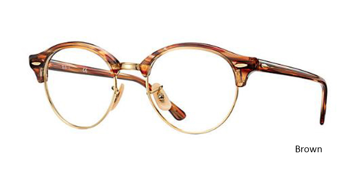 Brown (5751)RayBan Clubround Optics RB4246V Eyeglasses - Teenager