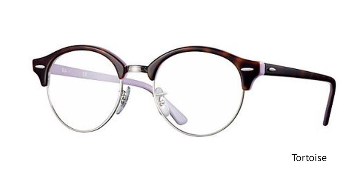 Tortoise (5240) RayBan Clubround Optics RB4246V Eyeglasses - Teenager