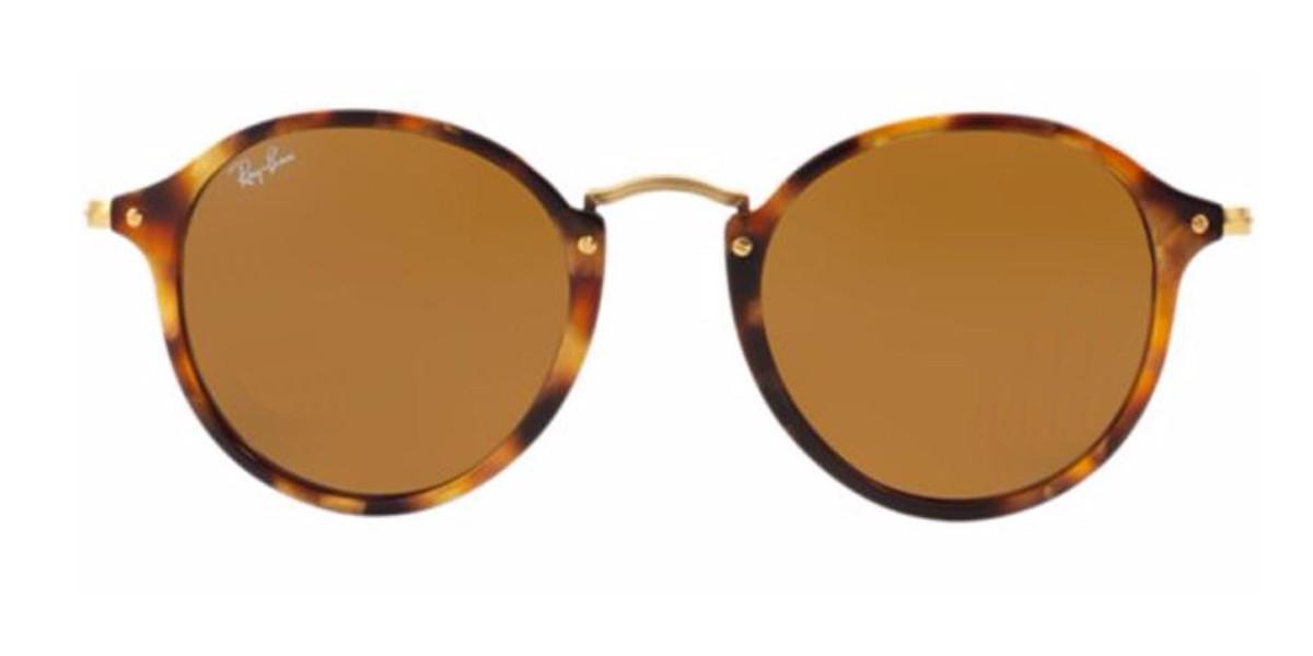 Tortoise/Gold (1160) RayBan Round Fleck Sunglasses - Teenager